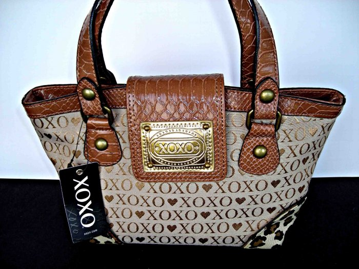 XOXO Wild Thing Purse Handbag Satchel New Chino Hearts
