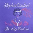 """Ritzy Glitzy 3/4 Sleeve Top SIZE 3XL  """"Sophisticated Society Ladies"""""""