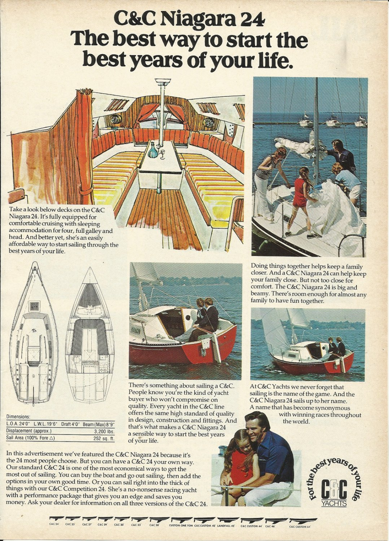 1977 C S&C Yachts Color Ad- The C & C 24