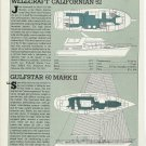 1985 Wellcraft 52 7 Gulfstar 60 Mark II New Yachts Reviews & Specs