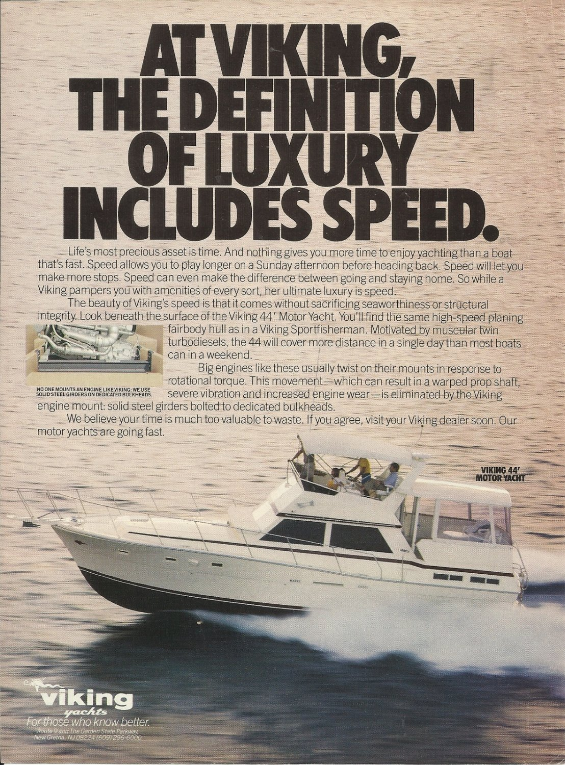 1984 Viking Yachts Color Ad- The 44' Motor Yacht