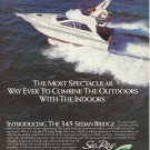 1988 Sea Ray Boats Color Ad- The 345 Sedan Bridge