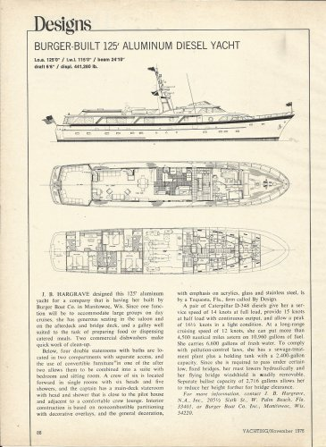 1978 J B Hargrave Burger- Built 125' Diesel Yacht Review & Specs