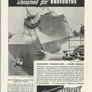 1944 WW II Danforth Hawse Pipes Ad- U S Frigate # 19