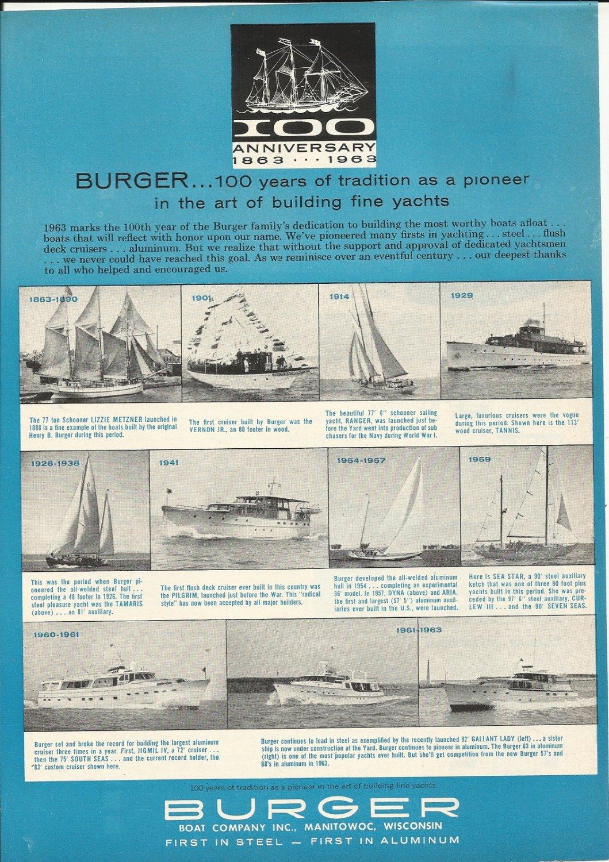 1963 Burger Boat Company Ad- 11 Burger boats
