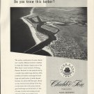 1954 Chubb & Son Insurance Ad-Great Aerial Photo of Newport Harbor CA.