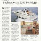 1995 Bayliner Avanti 3255 Sunbridge Yacht Review & Photo