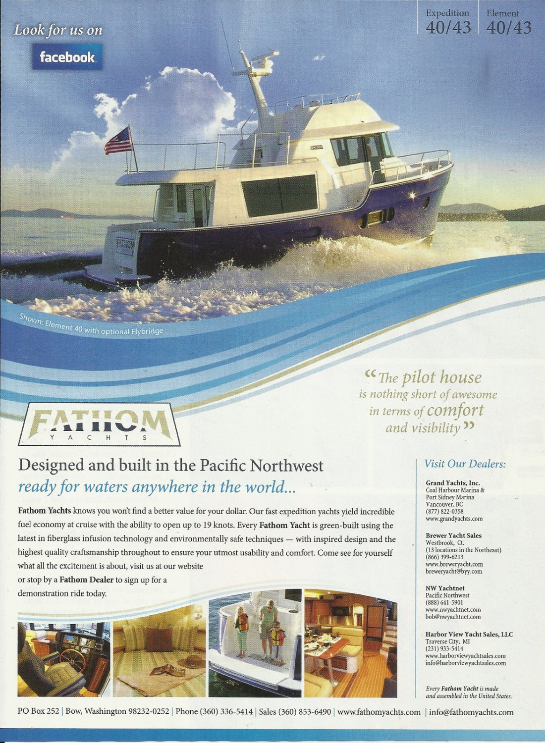 2011 Fathom Yachts Color Ad- The Element 40