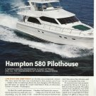2008 Hampton 580 Pilothouse Yacht Review & Specs- Photos