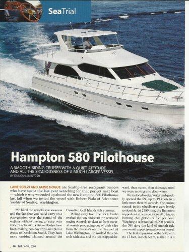 2008 Hampton 580 Pilothouse Yacht Review & Specs- Photos
