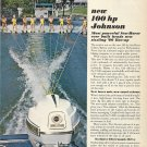 1966 Johnson Motors 4 Pg Color Ad-The Sea- Horse 100 HP Outboard