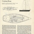 1984 Sabre Yachts Sabre 32 Cruising Sloop Review & Specs