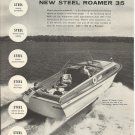 1957 Roamer Steel Boats Ad- The Roamer 35