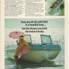 1969 Johnson Motors Color Ad- The Johnson 16 Seasport Boat