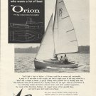 1962 Sailstar Boats Ad- The 19' Orion