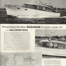 """Old Richardson Boat Company Ad- The Double Cabin """"41"""""""