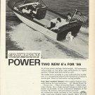 1966 Gray Marine Motors Ad Featuring Lyman Boat
