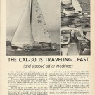 1966 Jensen Marine Corp Ad- The Cal- 30 Sailboat