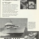 1966 Trojan Boat Company Ad- The 33' Sea Skiff Express