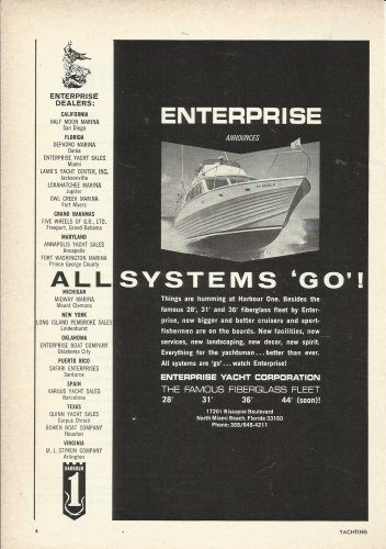 1966 Enterprise Yacht Corp Ad