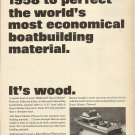 1966 U S Plywood Ad Featuring Lyman 28' Islander Day Cruiser