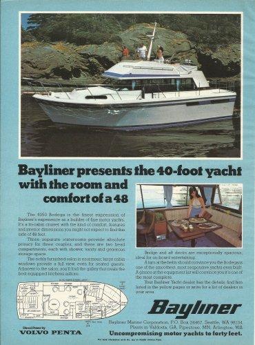 1979 Bayliner Marine Corp Color Ad- The 4050 Bodega