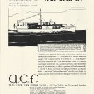 1929 American Car & Foundry Co Ad- A,C,F, 54' Cruiser