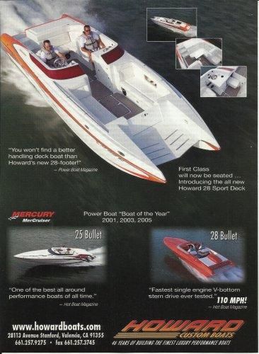 2007 Howard Custom Boats Color Ad- Bullet 28'- 25'