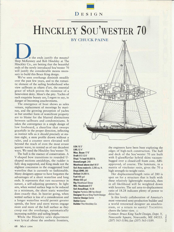1994 hinckley yachts sou u0026 39  wester 70 review  u0026 specs