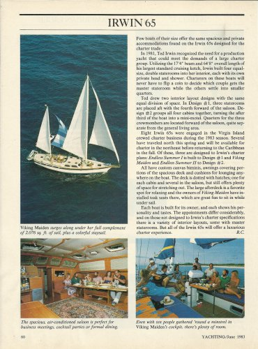 1983 Irwin Yacht & Marine Corp Irwin 65 Review & Photos