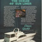 1983 Ocean Yachts Color Ad- The Ocean 46' Sun Liner