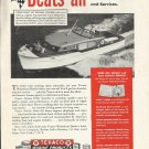 1948 Texaco Marine Ad Featuring Chris- Craft 40' Express Cruiser