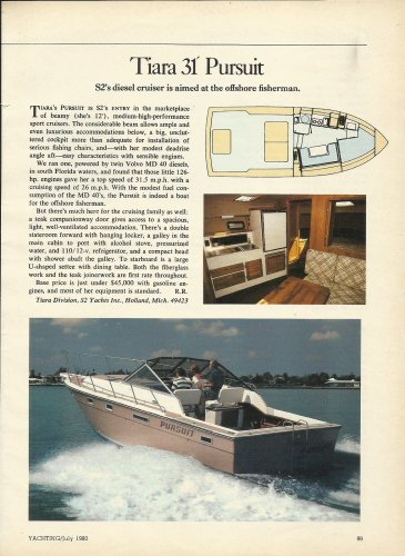 1980 Tiara Boats 31' Pursuit Review & Photo