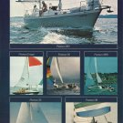 1975 Pearson Yachts 2 Page Color Ad- 12 Models