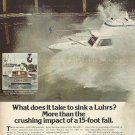 1977 Luhrs Boats 2 Pg Color Ad- The Luhrs 280- 15 Foot Drop Test