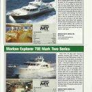 2010 Marlow Explorer 78E & 70E New Yachts Reviews & Specs- Photos