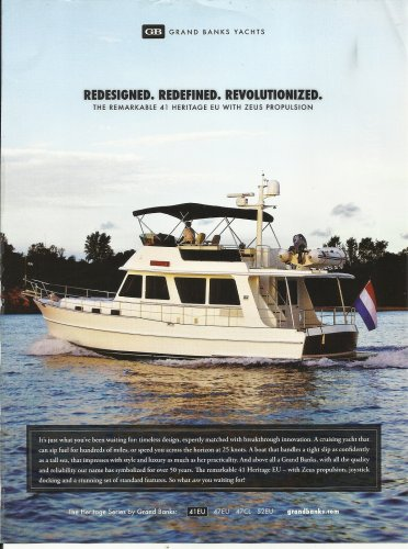 2010 Grand Banks Yachts Color Ad- The 41 Heritage EU