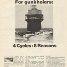 1968 Fisher- Pierce Homelite 55 HP. 4 Cycle Outboard Motors Ad