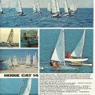 1970 Coast Catamaran Corp Color Ad- The Hobie Cat 14- Specs