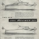 1958 Roamer Steel Boats Ad- Roamer 25' Models