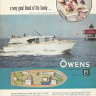 1964 Owens Yacht Co Color Ad- The 40' Tahitian
