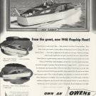 1948 Owens Yacht Company Ad- 3-2 & 1 Cabin Flagships