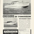 1948 Richardson Boat Company Ad- The 34' DeLuxe Sedan & Express Cruiser