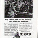 "1943 WW II Evinrude Outboard Motors Ad ""Evinrude University"""