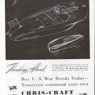 1943 Chris- Craft Boats Ad- Motor Boat