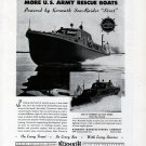 1943 WW II Kermath Marine Engines Ad- Sturgeon Bay U S Army Rescue Boats