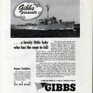 1943 WW II Gibbs Gas Engine Co Ad- Gibbs Warcraft