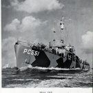 1942 WW II Leathem Smith Shipyard Ad- War Boat PC551- Great Photo