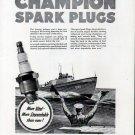 1942 WW II Champion Spark Plugs Ad- U S Coast Guard Patrol Boat