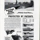 1942 WW II Higgins War Boats Ad-Landing-Tank-Crocodile-PT-72